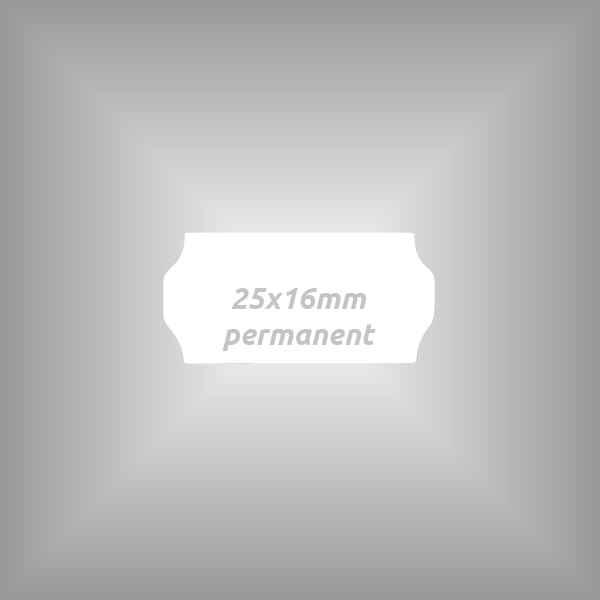 Klebeetikett 25x16mm permanent