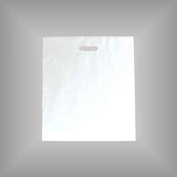 50 Plastiktüten weiß 45 x 50 + 5cm mit Griffloch