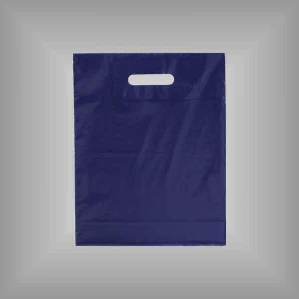 Plastiktüte dunkelblau 30x37x5cm