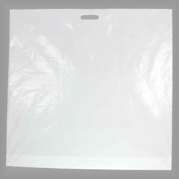25 Plastiktüten weiß 80 x 80 + 5cm mit Griffloch