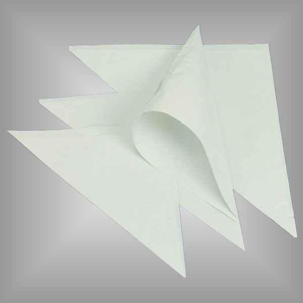 Papierspitztüten weiß ungefädelt